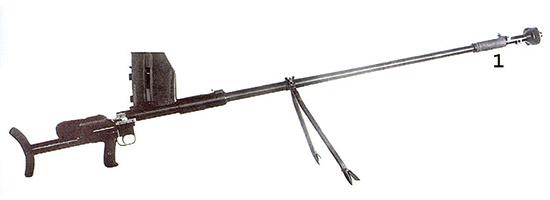 Рис. 6. Опытное ПТР Дегтярева (КБ-2), 2-й вариант. Август 1941 г.