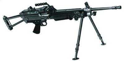 5,56-мм ручной пулемет FN Minimi Standart с металлическим прикладом (Бельгия)
