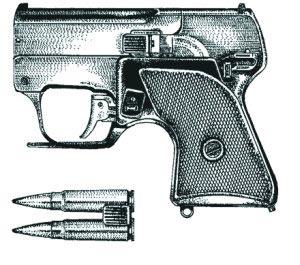 7,62-мм бесшумный пистолет МСП «Гроза» с патронами