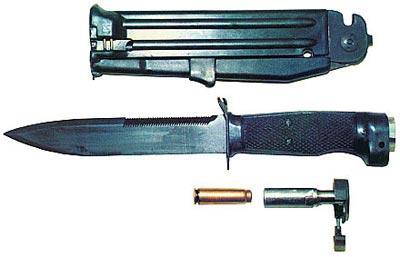 Устройство ножа разведчика стреляющего НРС-2
