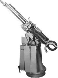20-мм строенная зенитно-пулеметная установка MG.151/20 на станке Flalaf.SL151.D, смонтированная на тумбе 1510/В