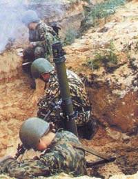 Стрельба из 82-мм батальонного миномета 2Б14-1 «Поднос»