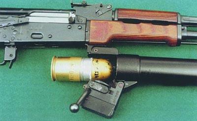 Заряжание подствольного гранатомета Kbk-g wz.1974 «PALLAD»