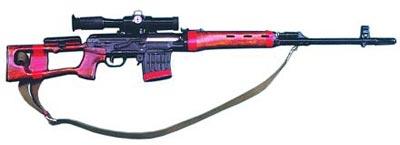 Снайперская винтовка Драгунова СВД с оптическим прицелом ПСО-1
