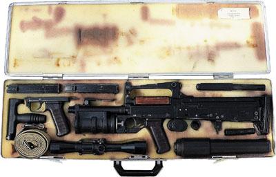 Пластмассовый футляр в виде чемоданчика типа «дипломат» для стрелково-гранатометного комплекса ОЦ-14 «Гроза»