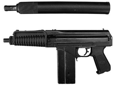 9-мм автомат 9 А-91 с прибором для беззвучно-беспламенной стрельбы расширительного типа