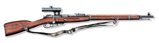 Снайперская магазинная винтовка обр. 1891/30 г.