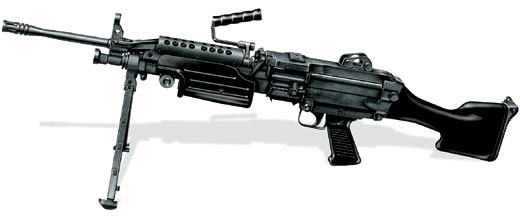 Ручной пулемет М249 SAW, США, 1984 г.