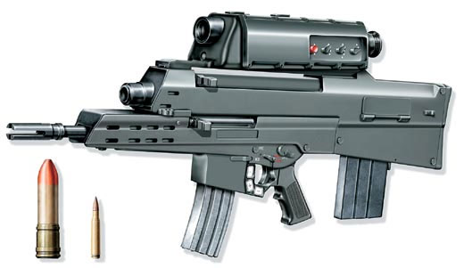 Вариант перспективного оружия ХМ29 OICW компании AAI