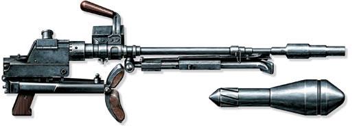 Противотанковый гранатомет Gr.B.39 и граната Gr.G.Pz.Gr.61, 1941 год, Германия