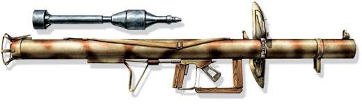 Ручной противотанковый гранатомет многоразового применения «Панцершрек» и реактивная граната P.Pz.B.Gr.4322, Германия, 1944 год