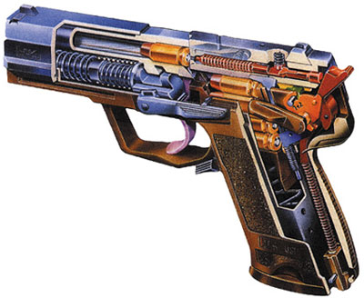 Схема 9-мм пистолета Hеckler & Koch USP.9
