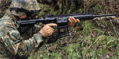 Стрельба из штурмовой винтовки НК 417