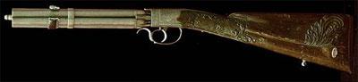Пеппербокс не обязательно представлял собой пистолет. Например, в Тульском музее хранится капсюльное короткоствольное ружье, сделанное по такому же принципу