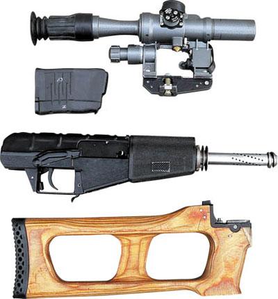 Неполная разборка снайперской винтовки ВСС