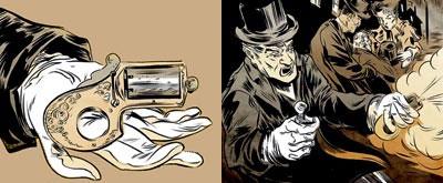 Несамовзводный револьвер-кастет «Май Френд», запатентованный Дж. Рейдом в 1865 году, выполнялся под патроны кольцевого воспламенения калибра .22, .32 или .41. При калибре .32 он весил 285 граммов. Владелец зажимал оружие в кисти так, что петля рамки становилась кастетом, спуск нажимал безымянным пальцем, предварительно вдавив средним пальцем защелку-предохранитель.