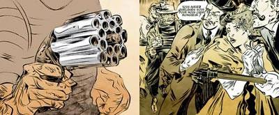 Владелец такого пепербокса (первая половина XIX века) мог сделать 16 выстрелов, прежде чем начать долгую процедуру заряжания дульнозарядного оружия. Каждый ствол имел свою брандтрубку для капсюля.