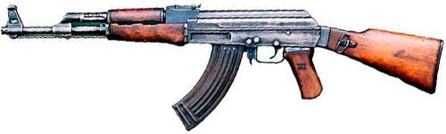 Самое распространенное оружие: Автомат Калашникова