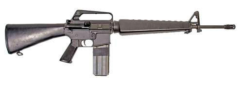 Самая распространенная винтовка: M16