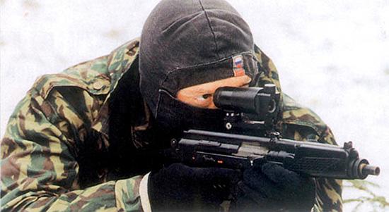 Стрелок с автоматом 9A-91