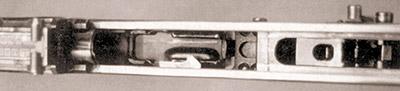 Ствольная коробка 7,62-мм автомата Калашникова, переделанная под запирающее устройство Барышева