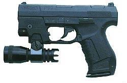 9-мм пистолет Walther Р.99 для полиции с лазерным целеуказателем и тактическим фонарем