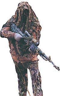 Германский снайпер в камуфляже со снайперской винтовкой G.22