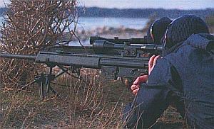 Снайперская пара из группы GSG-9 со снайперскими винтовками НК PSG.1