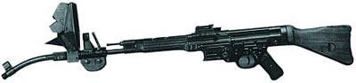 Автомат (штурмовая винтовка) МР.44 с искривленным стволом-насадкой Vorsatz J (пехотный вариант) на 45 градусов с прицельным приспособлением и набором призматических линз