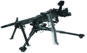 7,62-мм единый пулемет тип 62 с перископическим прицелом на станке М 2 (в станковом варианте)