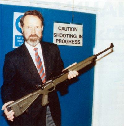 Эта редко демонстрируемая винтовка «Паркер-Хэйл» с продольно скользящим затвором под 5.56-мм патрон была конкурентом SA80 в контракте министерства обороны Великобритании на тренировочную винтовку
