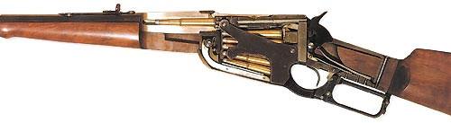 ... Вместе с питанием патронами из магазина, продольно-скользящий затвор обеспечив значительное повышение практической скорострельности армейского оружия. Однако, наряду с системами с продольно-скользящим затвором большой популярностью пользовались винтовки фирмы «Winchester» с оригинальной системой запирания канала ствола и подачи патрона в патронник. Эта система - яркий пример того, как интересное техническое решение принесло мировую известность оружейной фирме, стало её визитной карточкой...