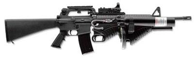 Пневматическая винтовка FN 303 – «оружие с пониженной летальностью» для сил правопорядка. Стреляет пластиковыми пулями калибра .68 с различной «боевой частью» – от несмываемой краски до капсаицина (перцового экстракта) на расстояние до 50 м