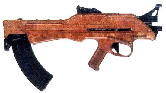 Один из вариантов автоматического оружия калибра 7,62 мм, выполненного по схеме «буллпап», – пластиковый ТКБ-022ПМ