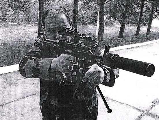 А.В.Шевченко и автомат Барс-1