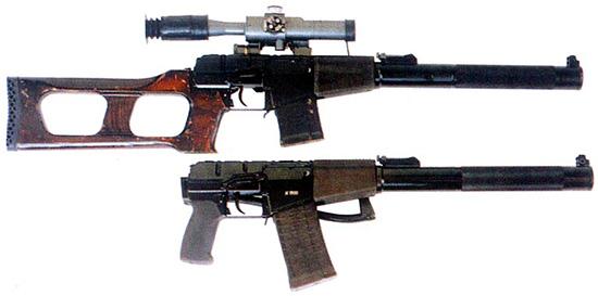 Снайперская винтовка ВСС и автомат АС