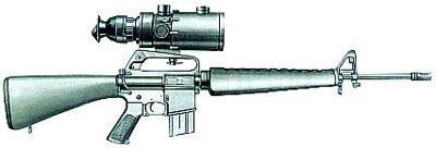 Винтовка М16 с ночным прицелом