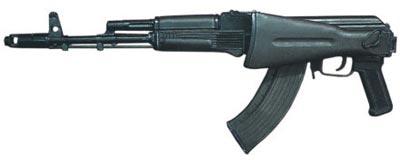 7,62-мм автомат АК-103 со сложенным прикладом