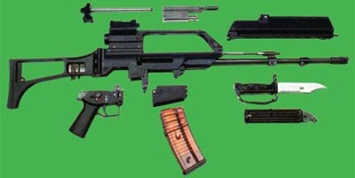 5,56-мм штурмовая винтовка G.36 (неполная разборка)