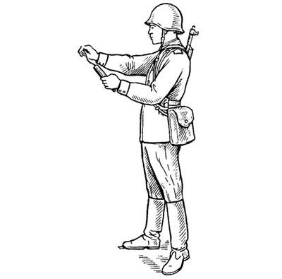 Подготовка наземного сигнального патрона к действию