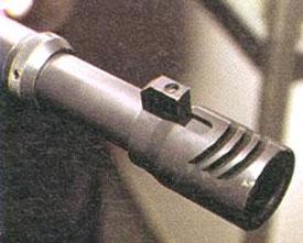 Дульное устройство «Протекты» очень впечатляет своим внешним видом и габаритами