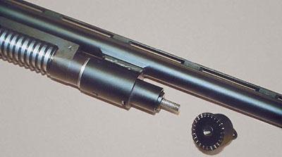 Так выглядит «Бекас» без цевья с новым газовым двигателем, в конструкцию которого введён автоматический газовый регулятор
