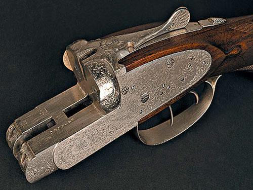 Колодка первого тульского стендового ружья ТС-1, выпущенного в 1947 году. Его прототипом было ружье Августа Лебо.