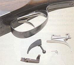УСМ МЦ8 имеет возможность легкого перехода с односпускового на двухспускувой (и обратно) путем замены всего нескольких деталей, которые входят в комплект ружья