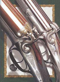 С появлением более лёгких и маневренных казнозарядных двустволок, садочные стрелки не преминули воспользоваться этими достижениями оружейников. На фото - ружьё Джозефа Ланга с нижним поворотным рычагом Генри Джоунза под шпилечные патроны, конец 1850-х гг. (справа) и ружьё Э. Рейлли с таким же рычагом, но под патроны центрального боя, начало 1870-х (слева)
