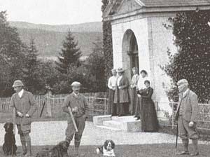 Перед началом соревнований по садочной стрельбе. Англия, конец XIX века