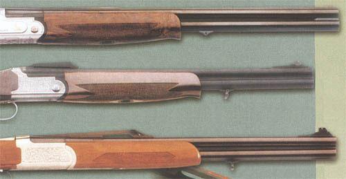 «Горбатые» планки бывают нескольких разновидностей: невысокие с прицельной линией до половины ствола (как, например, у ружья Fabarm LE LYS61), высокие короткие (Fabarm Traqueur AL56), высокие длинные до половины ствола (Verney-Carron Sagittaire NT)