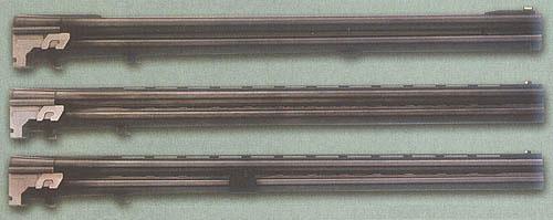 Три пары сменных стволов с различными типами прицельных планок для вертикалки фирмы Franchi. Пристрастие к тому или иному типу планки - исключительно дело моды и вкуса владельца