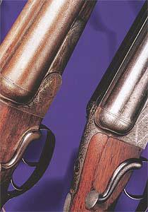«Из пяти наиболее успешных типов механизмов для открывания-закрывания ружей лучшим был и остается боковой рычаг». Ружье Стефена Гранта с боковым рычагом отпирания.