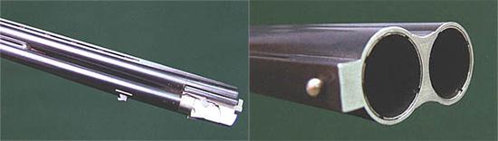 Ствольный блок из высоколегированной стали. Для лучшего теплоотвода прицельная и соединительная планки выполнены в вентилируемом варианте, более того, соединительной планки в области цевья просто нет. Ствольные заготовки проходят тщательное рентгенодефектоскопическое обследование. Ствольный блок со стороны дульного среза